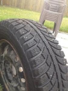 $300 · 4 NEW Champion ice pro 205/65 r15 studded with rims Regina Regina Area image 2