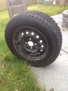 $300 · 4 NEW Champion ice pro 205/65 r15 studded with rims Regina Regina Area image 1