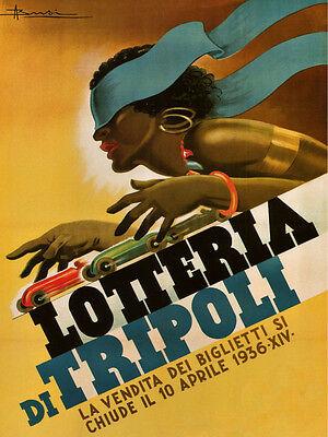 Car Race Tripoli Libya Grand Prix Lottery1936 Vintage Poster Repro Free Shipping