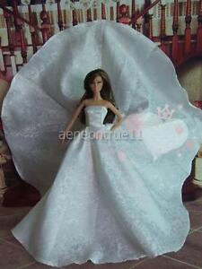 Barbie-White-Long-Dress-Outfit-doll-not-encluded