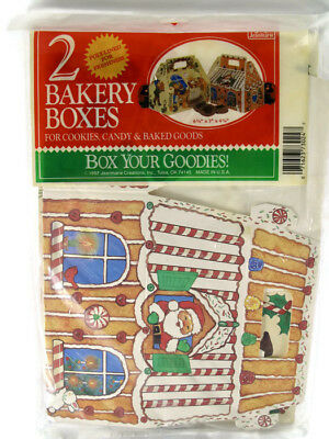 Vtg NIP Christmas Bakery Boxes for Cookies Candy Santa Claus Mrs. Claus Elves (Boxes For Christmas Cookies)