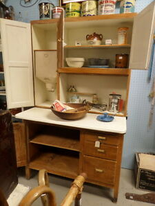 Antique Wooden Hoosier Kitchen Cupboard - Blue Jar Antique Mall Edmonton Edmonton Area image 2