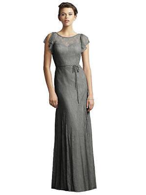 Jenny Yoo Florentine Lace Sweetheart Charcoal Sz 12 Bridesmaids Prom Dress JY520