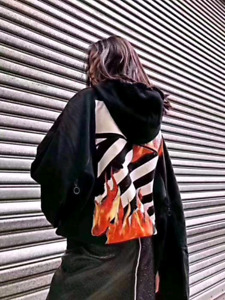Off white fire hoodie