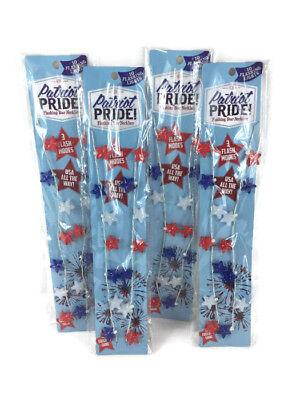 Patriot Pride SET OF 4 Patriotic Flashing Star Necklace