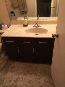 $100 · Three used Bath room faucets two delta one moen in chro