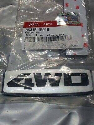 "Genuine 05~09 KIA SPORTAGE ""4WD"" letters Emblem"