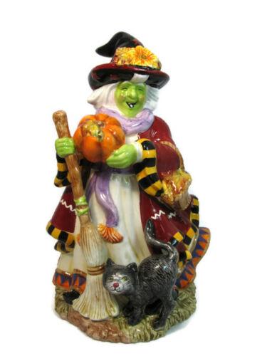 "Signature Home Collection Ceramic Autumn Witch Halloween Figurine Statue  12"""