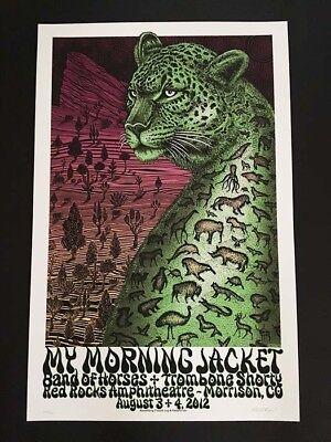My Morning Jacket Red Rocks 2012 Mega Rare Concert Poster Emek S/N Mint Night 2