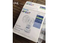 Phillips Avent Manual Breast pump with box and instructions