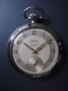 Herma men's pocket watch, approximately 1940