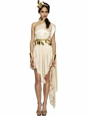 Greece Goddess Costume (Smiffys Fever Goddess Ancient Rome Greece Womens Halloween Costume)