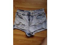 Bershka Ladies Denim Shorts Size 10