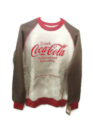 Coca-Cola Kangaroo-Pocket Sweatshirt Rust and Oatmeal Extra Large- BRAND NEW