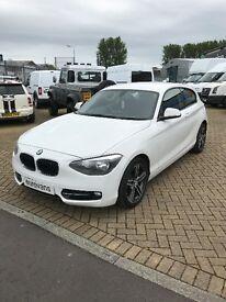 BMW 1 SERIES 116I SPORT (white) 2012