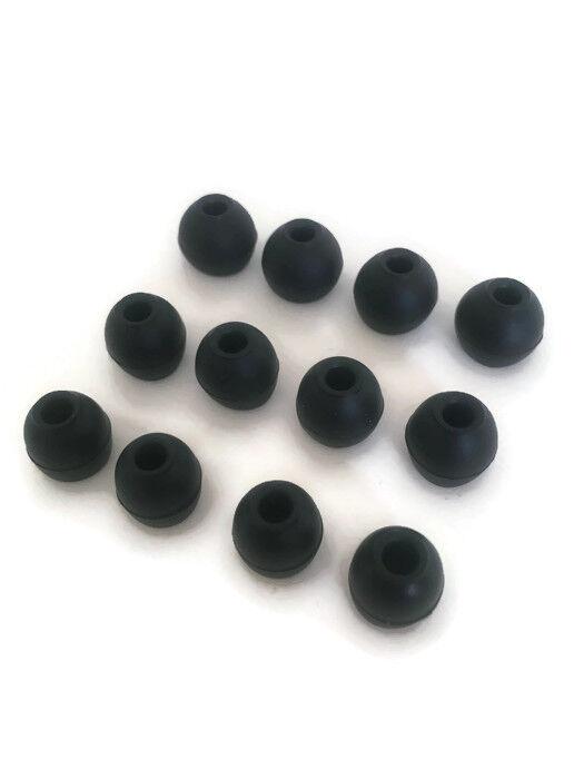 12 Black Eartips Earbuds for BEYERDYNAMIC Byron BT, BTA In-E