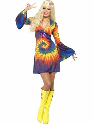 Smiffys 1960's Tie Dye Hippie 60s Culture Adult Womens Halloween Costume 20741](Halloween 1960 Costumes)
