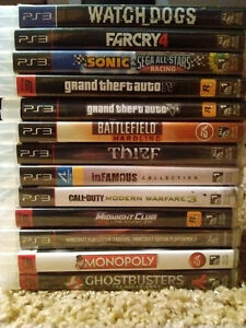 PS3 Slim Plus Games (Click for separate and total Prices)