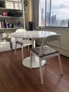 Moving Sale!!! White IKEA Docksta Dining Room Chairs + Table