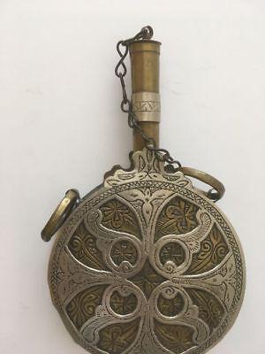 "Antique, Islamic, North African Maghrebi, ""Arabic Moroccan gun powder flask"