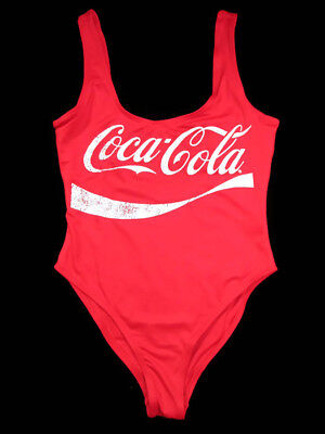 Coca-Cola One Piece Swimsuit Red Fully Lined Size Medium