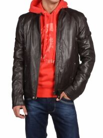 Leather Jacket by DIESEl. Super soft leather. Never Been Worn. Make Lovely Christmas Gift.