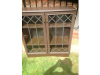 2 DOOR 3 TIER DISPLAY CASE VERY STURDY delivery available