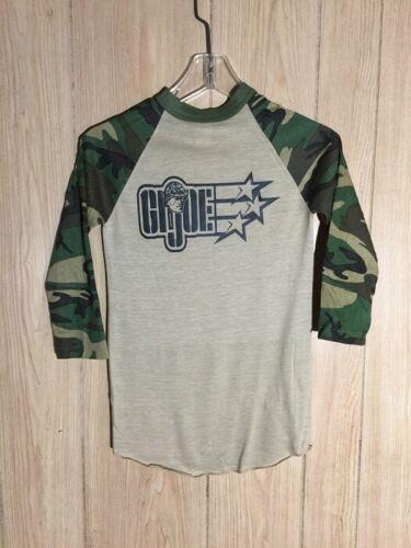 Vintage 80s GI Joe T-Shirt Baseball Camo Raglan 14-16 USA NOS