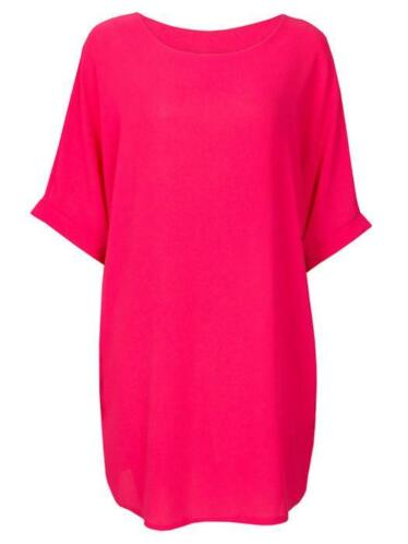 Comfy Dress Fuchsia, jurk casual roze