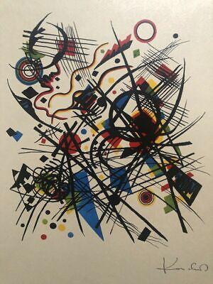 Wassily Kandinsky, Litografia per la Quarta Mappa Bauhaus, litografia 33x40