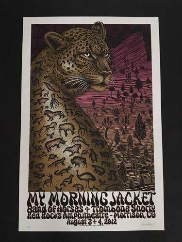 My Morning Jacket Red Rocks 2012 Mega Rare Concert Poster Emek S/N Mint Night 1