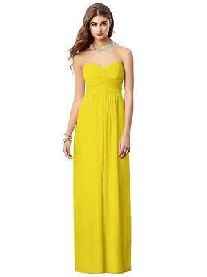After Six Full Length Strapless Empire Citrus Sz 8 Bridesmaids Prom Dress -