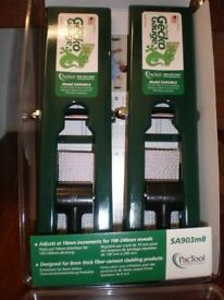 Gecko Gauges, Set of Two. Gauges & Supports Cladding for One Person Installation