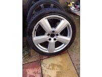 "Audi S-Line a4 a3 Ronal 18"" Genuine Alloy Wheel SINGLE wheel"