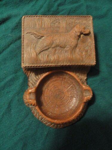 Irish English Setter Ashtray Card or Memo Note Holder Vintage*