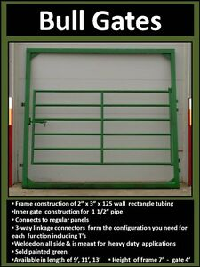 Corral, Panels, Gates and Bale Feeders