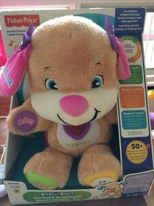 New unopened Fisher Price Laugh & learn Puppy (French)