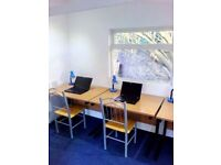 Secluded Private Office in Garden Shed, Wifi Wood Burning Stove and Beautiful Environment £15 pday