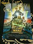 Star Wars - The Clone Wars  - Theatrical Movie poster - Size