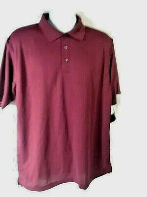 Cool Mesh-polo ( Ultra Club Men`s - Cool & Dry Mesh - Polo Shirt - Size Large - Color - Maroon)