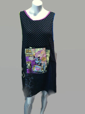 Womens trapeze dress novelty print super hero knit spiderman batman skulls crows