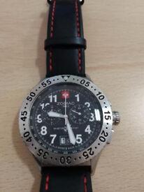 Zodiac Pilot Chronograph Big date swiss watch