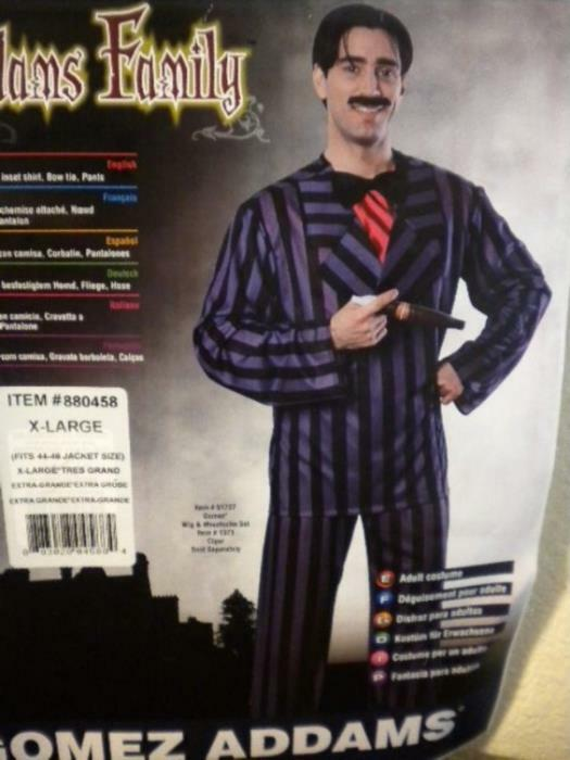 ADDAMS FAMILY GOMEZ HALLOWEEN COSTUME OUTFIT - SIZE: XL - ADULT MENS - MORTICIA