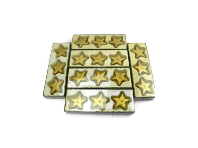 New old stock gold star floating candles Lot of 6