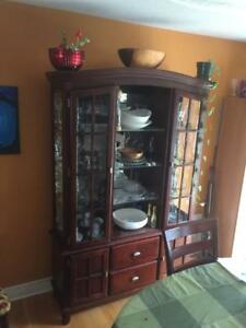 Solid Wood Dining Room Buffet and Hutch