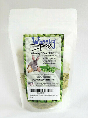 Wheeky Pea Flakes - A Special Treat for Rabbits, Guinea Pigs, Hamsters and - Hamster Treats