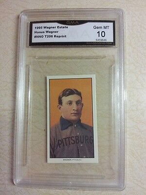 ($200) HONUS WAGNER ESTATE 1909 T206 REPRINT PIEDMONT TOBACCO GRADED 10 GEM MINT, used for sale  Staten Island