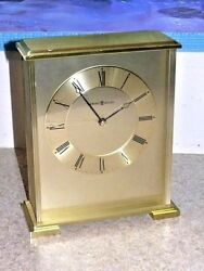 Howard Miller Exton 645-569 Brass Carriage Desk Shelf Mantel Clock Works Great