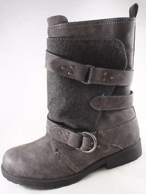 Rampage Jennis Women's Gray Wrapped Mid Calf Boots