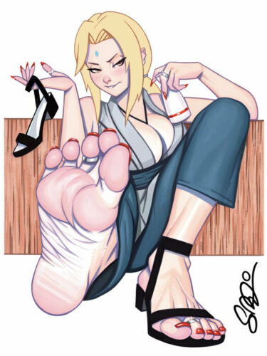 TSUNADE Barefoot Pin-Up 9x12 Print Scott Blair